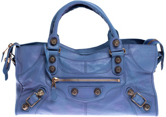 Balenciaga Sky Blue Leather GGH Part Time Tote