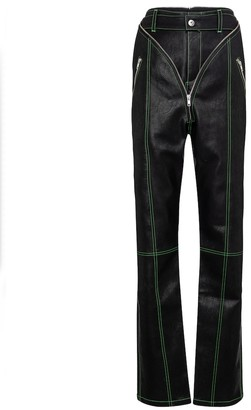 Y/Project High-rise straight faux-leather pants