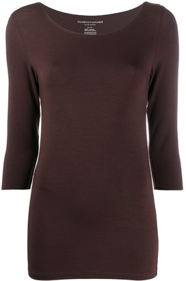 Majestic Filatures 3/4 sleeves fitted T-shirt