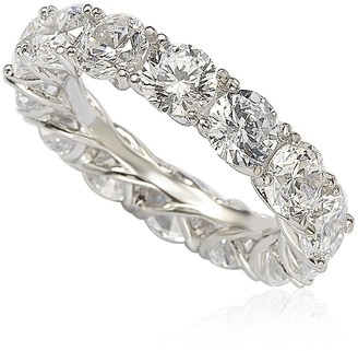 Suzy Levian Sterling Silver CZ Eternity Band