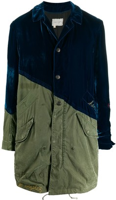 Greg Lauren Velvet Fishtail Parka Coat