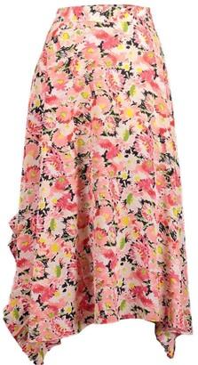 Stella McCartney Ashlyn Floral Silk Print Skirt
