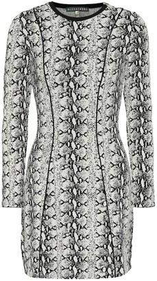 ALEXACHUNG Snakeskin-printed minidress