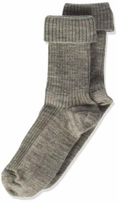 Melton Girls' Basic Socken Wolle Breit Gerippt Socks