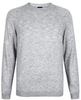 Burton Mens Grey Crew Neck Jumper
