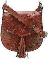 Alberta Ferretti woven tassel satchel