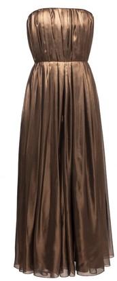 Lake Studio Metallic Pleated Corset Midi Dress