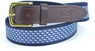 Vineyard Vines Men's Whale Canvas Club Belt
