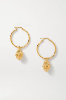 SOFT MOUNTAINS Halo Gold Vermeil Hoop Earrings