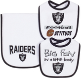 Gerber Oakland Raiders Three-Piece Bib & Burp Cloth Set