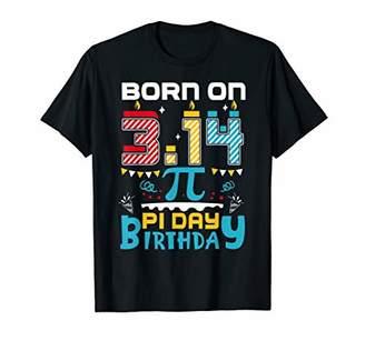 Pi Born On 3.14 Day Birthday Funny Math March 14th Gift T-Shirt
