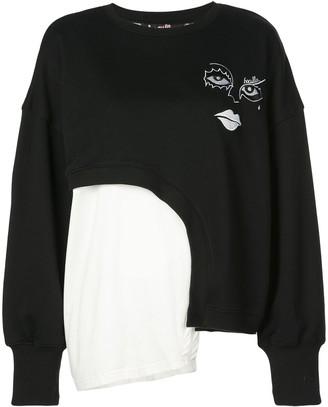 Haculla Witch Hybrid asymmetric sweatshirt