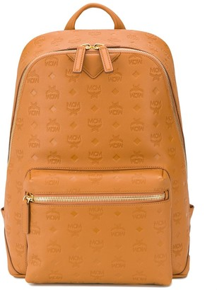 MCM Stark embossed-logo backpack