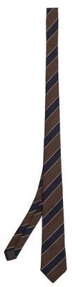 Brunello Cucinelli Stripe-jacquard Silk-twill Tie - Brown Multi
