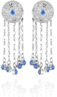 Nanette Lepore Celestial Button Fringe Earrings