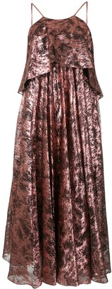 Halpern Metallic Oversized Dress