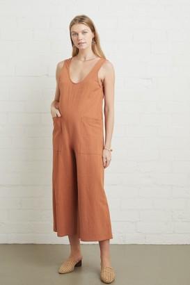 Maternity Linen Canvas Remy Jumpsuit