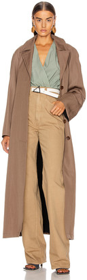 Lemaire Tie Coat in Kraft Brown | FWRD