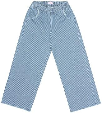 Il Gufo Striped cotton pants