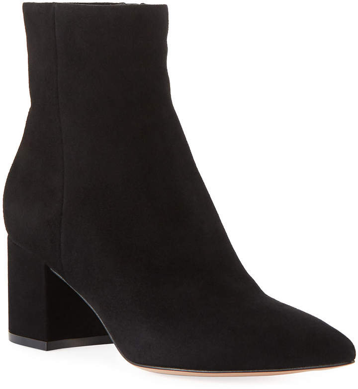 Gianvito Rossi Suede Ankle Bootie