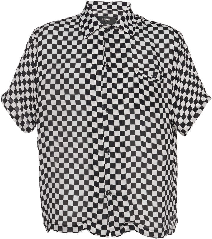 c60fe00a4 Mens Black And White Checkered Shirt - ShopStyle