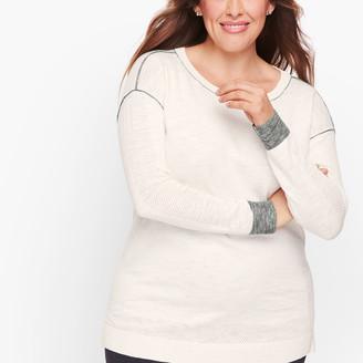Talbots Mesh Trim Sweater
