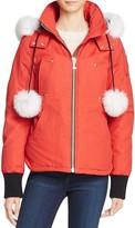 Moose Knuckles Fox Fur Trim Beaver Down Jacket