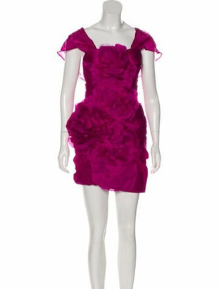 Marchesa Silk Mini Dress