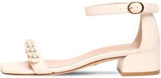 Stuart Weitzman 35mm Nudistjune Leather Sandals