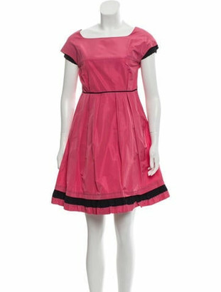 Miu Miu Short Sleeve Mini Dress Pink