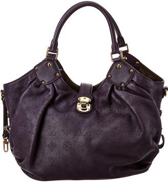 Louis Vuitton Purple Mahina Leather Large Hobo