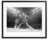 Sonic Editions Ali Dodging a Punch from Frazier (Framed)