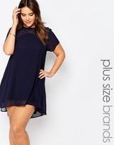 AX Paris Plus Shift Dress With Mesh Insert