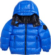Moncler Dieppe Water Resistant Channel Quilted Hooded Down Jacket
