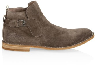 Officine Creative Steple Side Buckle Suede Boots