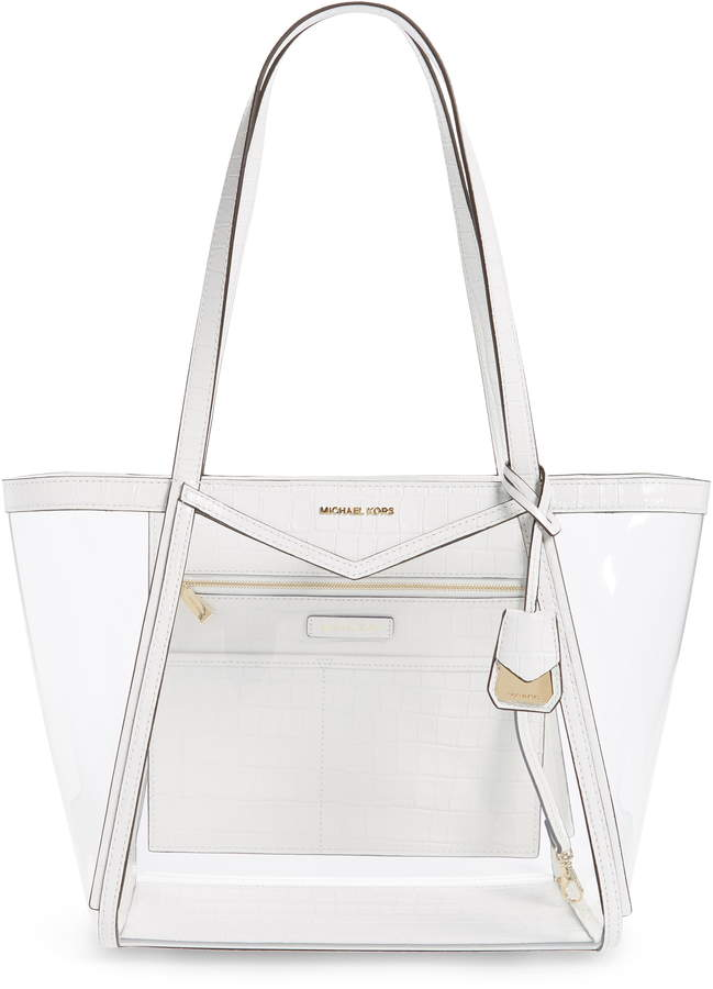 02f8a55392d84f Lyst Michael Kors Medium Rita Clear Bucket Tote Bag. Clear Handbags Style  Canada