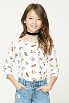Forever 21 FOREVER 21+ Girls Graphic Top (Kids)