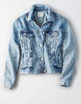 American Eagle Outfitters AE Painted Classic Denim Jacket