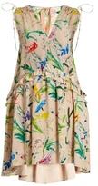 No.21 NO. 21 Bird-print silk-crepe dress
