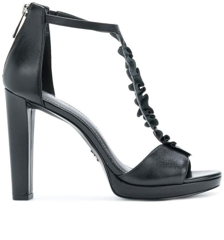 MICHAEL Michael Kors Bella ruffled T-bar sandals