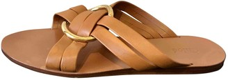 Chloã© ChloA Rony Brown Leather Sandals