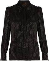 Roberto Cavalli Monkey and snake jacquard blouse