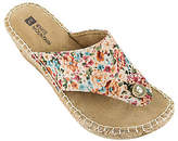 White Mountain Espadrille Thong Wedge Sandals -