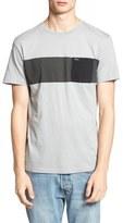 RVCA 'Three O'Clock' Pocket Crewneck T-Shirt