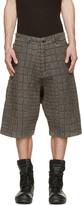 Kokon To Zai Grey Denim Croc Washed Shorts