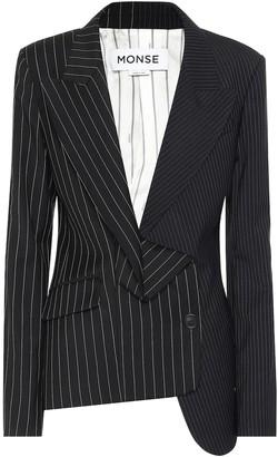 Monse Striped wool blazer