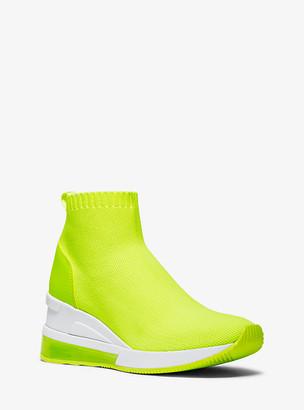 Michael Kors Skyler Extreme Neon Stretch-Knit Sock Sneaker