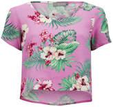 Love Women's Floral Crop T-Shirt