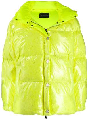 Goose Tech patent hooded padded jacket