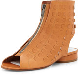 Maison Margiela Perforated Leather Summer Bootie, Camel